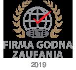 Certyfikat Firma Godna Zaufania ELITE